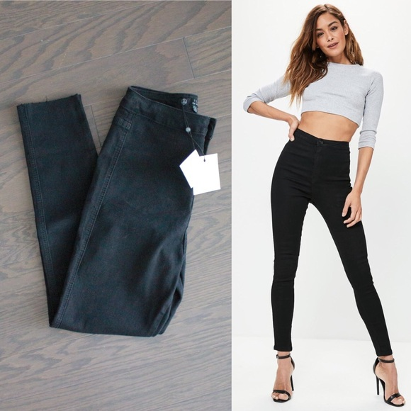 56e02c0840f75 Missguided Black High Waisted Skinny Jeans